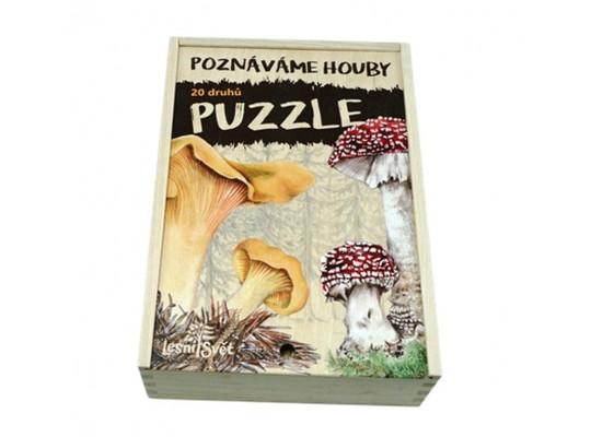 Puzzle dřevěné naučné/edukativní-Houby