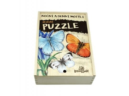 Puzzle dřevěné-naučné/edukativní-Motýli