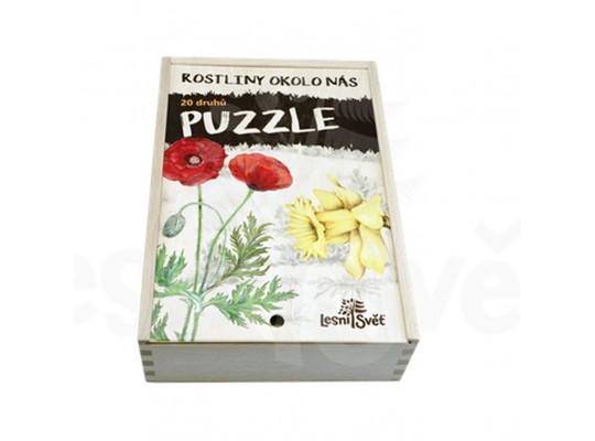 Puzzle dřevěné-naučné/edukativní-Rostliny