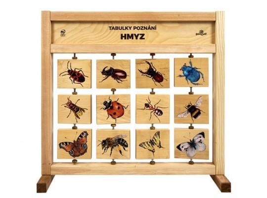 Tabule naučná/informační-dřevěná-stolní-Hmyz