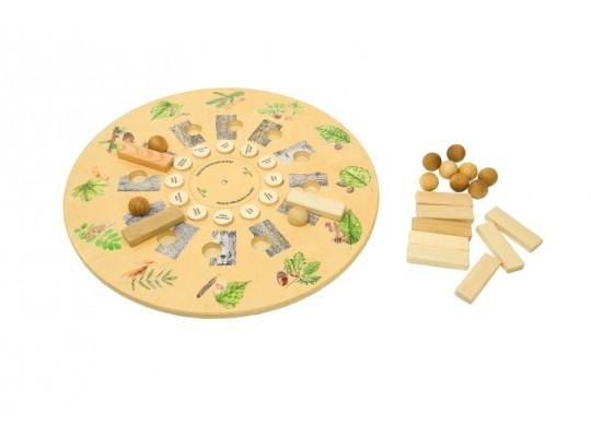 Kolo dřevěné edukativní/naučné-Poznáváme dřeviny