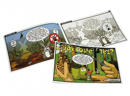 Omalovánky A5 z papíru-Jak roste les