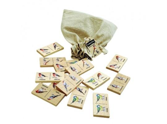 Domino dřevěné-naučné/edukativní-Ptáci