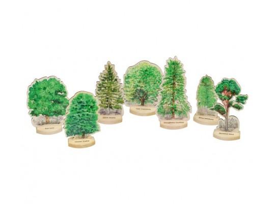 Sada dřevěná-maketa 3D-Stromy