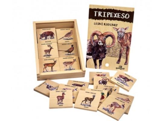 Tripexeso dřevěné-naučné/edukativní-Zvířecí rodinky