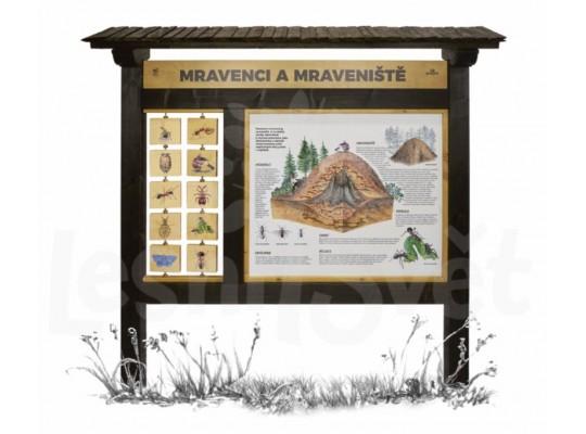 Tabule naučná/informační-dřevěná-venkovní-Mraveniště