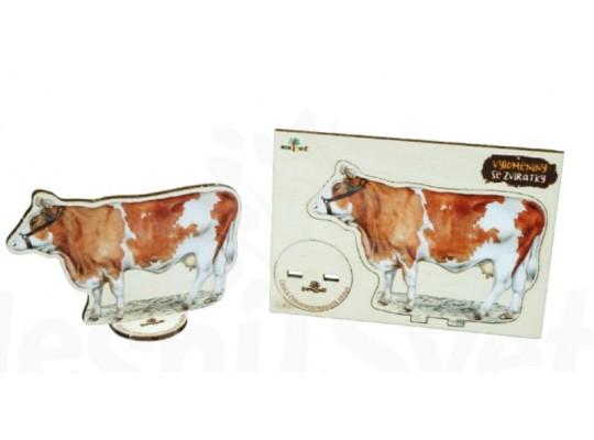 Deska z překližky-tvar vylamovací-Kráva