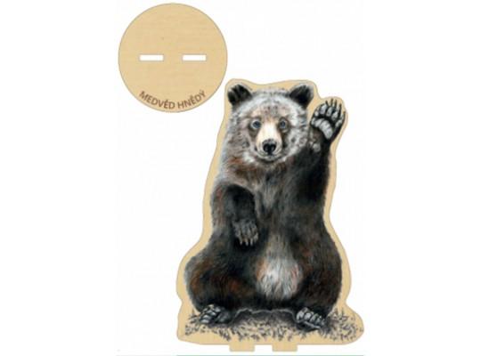 Deska z překližky-tvar vylamovací-Medvěd