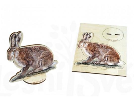 Deska z překližky-tvar vylamovací-Zajíc