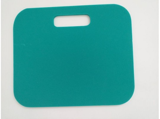 Podsedák pěnový s rukojetí-34x28x1cm-zelený tmavý(poškozený okraj)