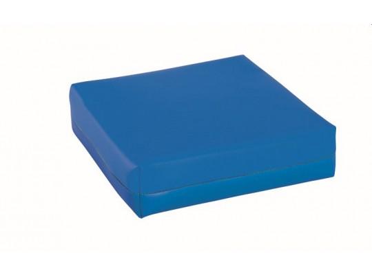 Podsedák z PUR pěny-koženka-28x28x5cm-modrá tmavá