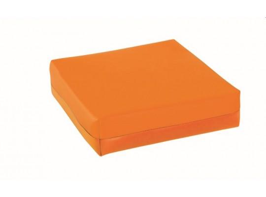Podsedák z PUR pěny-koženka-28x28x5cm-oranžová