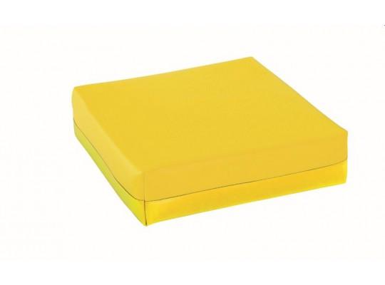 Podsedák z PUR pěny-koženka-28x28x5cm-žlutá