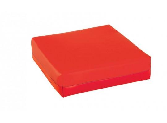 Podsedák z PUR pěny-koženka-28x28x5cm-červená