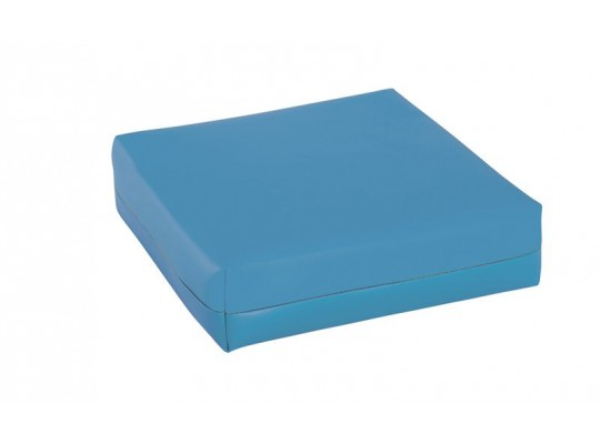 Podsedák z PUR pěny-koženka-28x28x5cm-modrá světlá