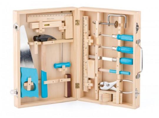 Nářadí kovové v dřevěném kufříku