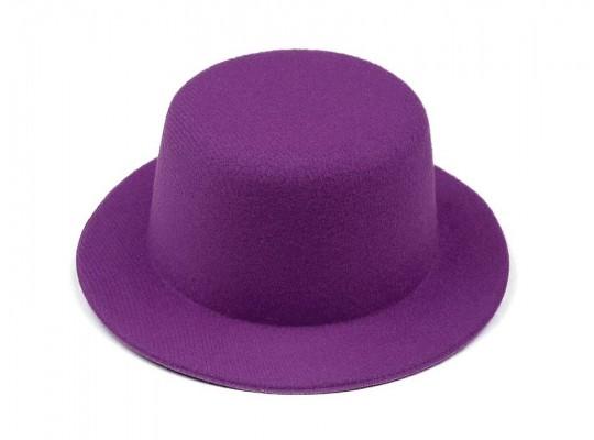 Klobouček dekorační-pr.13,5cm-polyester-fialový