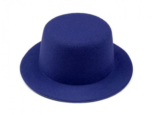 Klobouček dekorační-pr.13,5cm-polyester-modrý