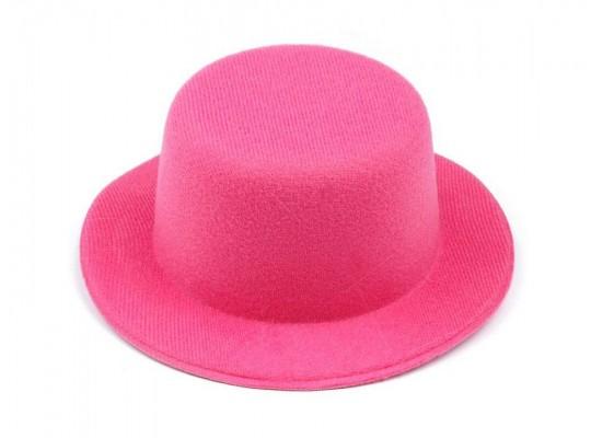 Klobouček dekorační-pr.13,5cm-polyester-růžový