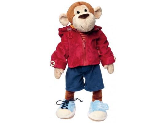 Opice plyšová-43cm-original-Sigikid-edukační-Učím se oblékat