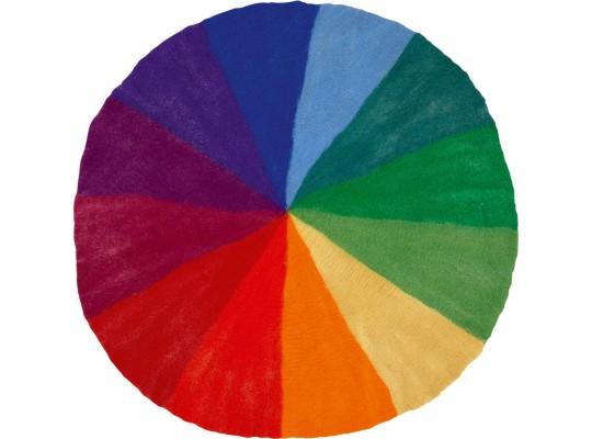 Duhový svět-Montessori-kruh barevný z filcu-velký-pr.150cm