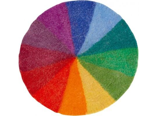 Duhový svět-kruh barevný z filcu-malý-pr.52cm