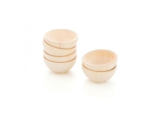 Duhový svět-Montessori-miska dřevěná-pr.9cm-6ks