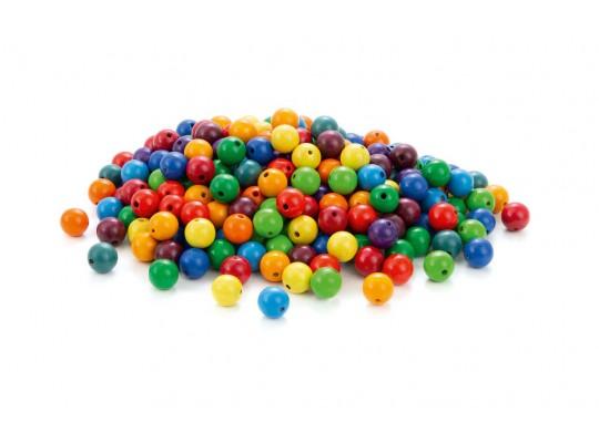 Duhový svět-Montessori-perly dřevěné-barevné-pr.2cm-240ks