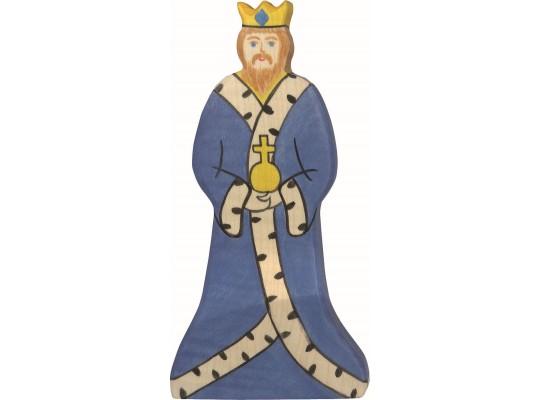 Král dřevěný-8,5x17x2,6cm